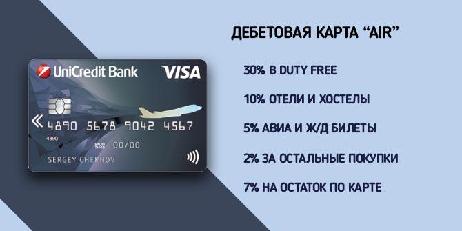 "Условия по кэшбэку на дебетовой карте ""Air"""