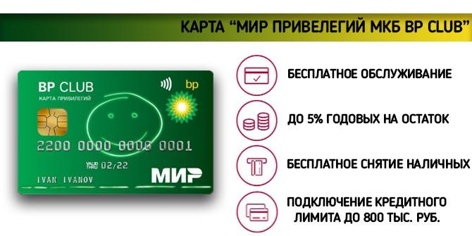 карта МКБ ВР Club Мир